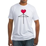 One Heart Love Umbrella2 Fitted T-Shirt