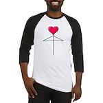 One Heart Love Umbrella2 Baseball Jersey