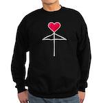 One Heart Love Umbrella2 Sweatshirt (dark)