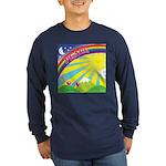 """Peace Rainbow"" Long Sleeve Dark T-Shirt"