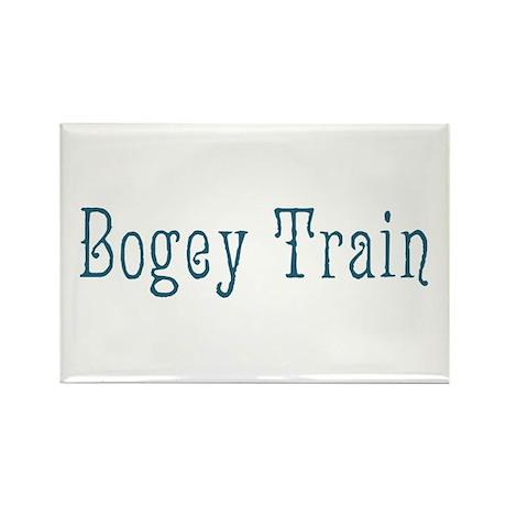 Bogey Train Rectangle Magnet