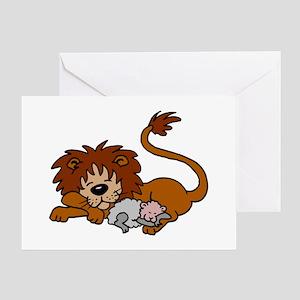 Lion and Lamb Greeting Card