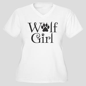 Breaking Dawn-Wolf Girl Women's Plus Size V-Neck T