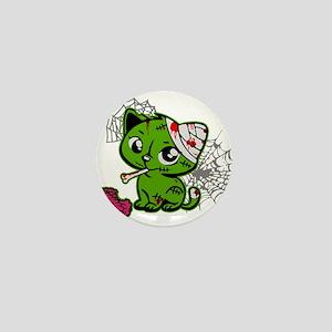 Zombie Kitty Mini Button