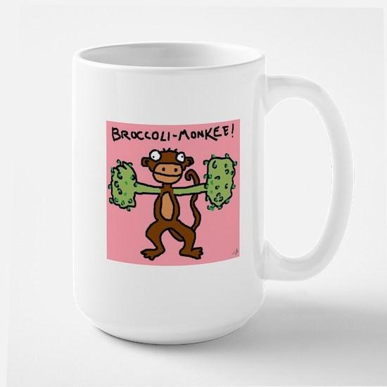 Broccoli Monkee Large Mug