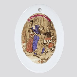 Belle with her Brood Oval Ornament