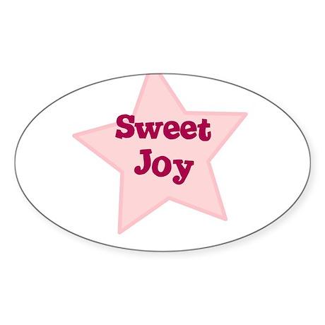 Sweet Joy Oval Sticker