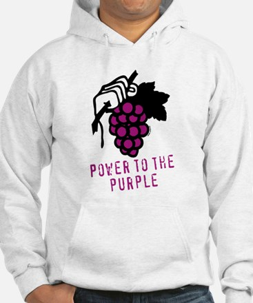 Grapes Power to the Purple Wine Hoodie