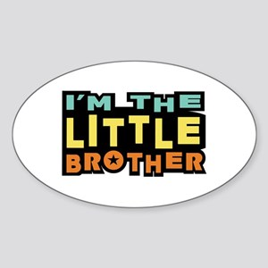 I'm The Little Brother Oval Sticker