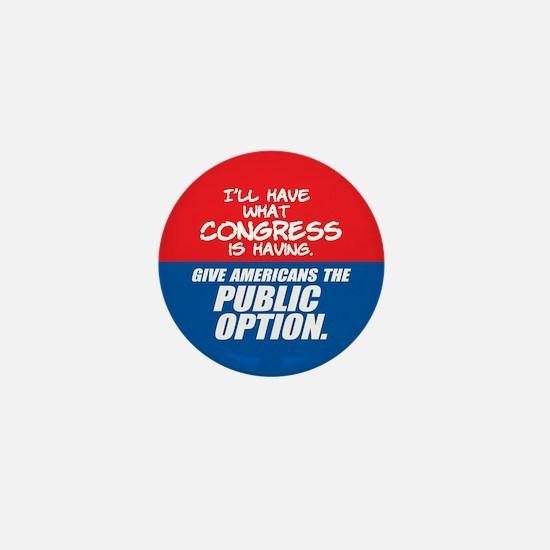 SUPPORT THE PUBLIC OPTION Mini Button