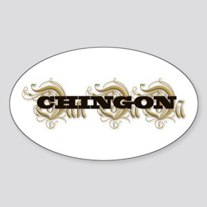 CHINGON Oval Sticker