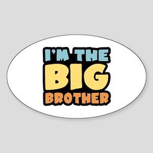I'm The Big Brother Oval Sticker