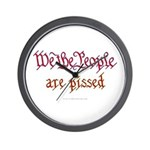 We the People are Pissed Wall Clock