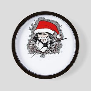 Santa Head Wall Clock