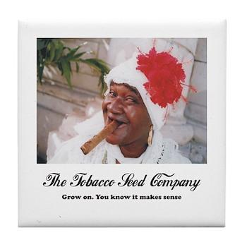 The Tobacco Seed Company Tile Coaster