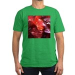 Red Leaves Men's Fitted T-Shirt (dark)