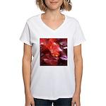 Red Leaves Women's V-Neck T-Shirt