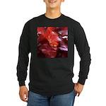 Red Leaves Long Sleeve Dark T-Shirt