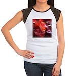 Red Leaves Women's Cap Sleeve T-Shirt
