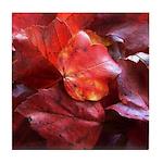 Red Leaves Tile Coaster