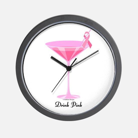 Drink Pink Wall Clock