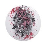 Painted Roses Ornament (Round)