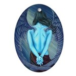 Solitude Angel Oval Ornament