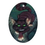 Cheshire Cat Oval Ornament