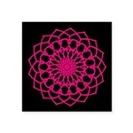 "Square Sticker 3"" X 3"" Hot Pink - Love"