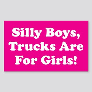 Silly Boys Rectangle Sticker