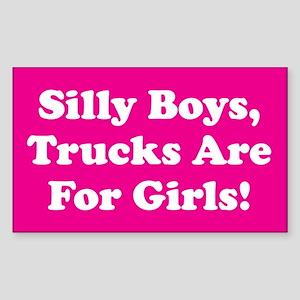 Silly Boys Rectangle Sticker
