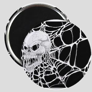 Web Skull Art Magnets