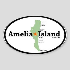 Amelia Island FL. Oval Sticker