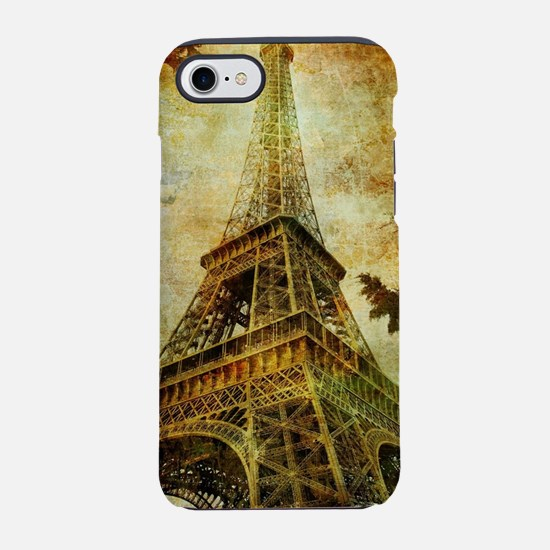 Eiffel Tower Grunge iPhone 7 Tough Case