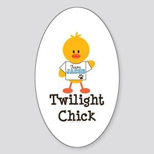 Team Jacob Twilight Chick Oval Sticker