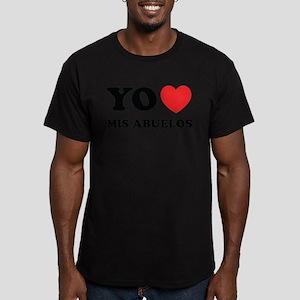 Yo Amo Mis Abuelos Men's Fitted T-Shirt (dark)