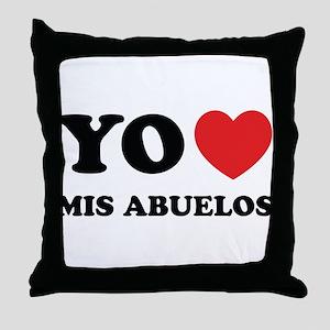 Yo Amo Mis Abuelos Throw Pillow