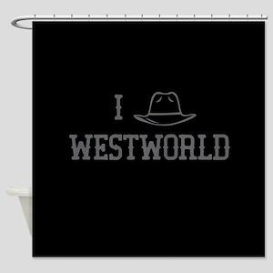 I Black Hat Westworld Shower Curtain