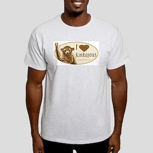 I Love Kinkajou Ash Grey T-Shirt