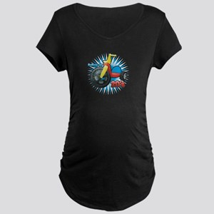 Rolling on 20's Maternity Dark T-Shirt
