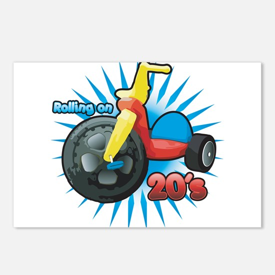 Rolling on 20's Postcards (Package of 8)