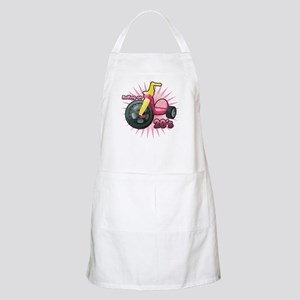 Rolling on 20's (Pink) BBQ Apron