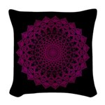 Woven Throw Pillow - Violet Flame
