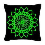 Woven Throw Pillow -Electric Green