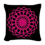 Woven Throw Pillow - Hot Pink