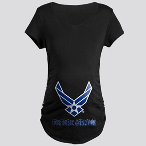 Future Airman Maternity Dark T-Shirt