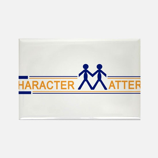 Character Matters Rectangle Magnet