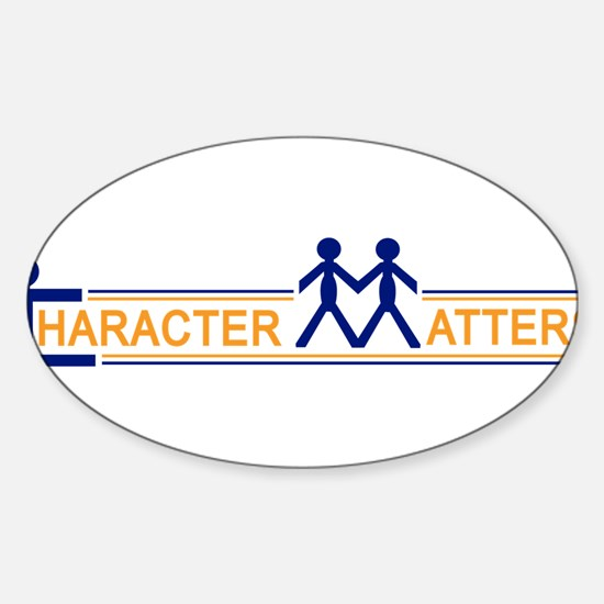 Character Matters Oval Decal