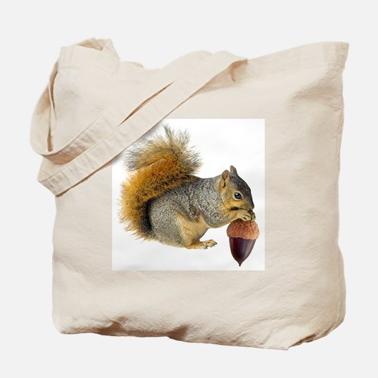 Squirrel Eating Acorn Tote Bag