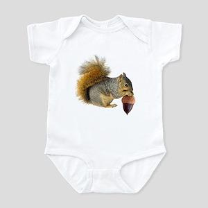 Squirrel Eating Acorn Infant Bodysuit